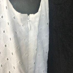 Cynthia Rowley Dresses - Cynthia Rowley Sleeveless White Eyelet Dress